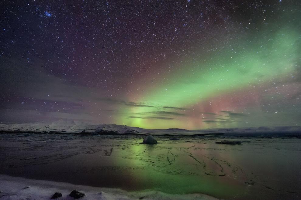 Amazing auroras in magical Iceland