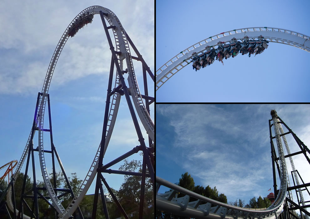 Full Throttle roller coaster world's tallest vertical loop