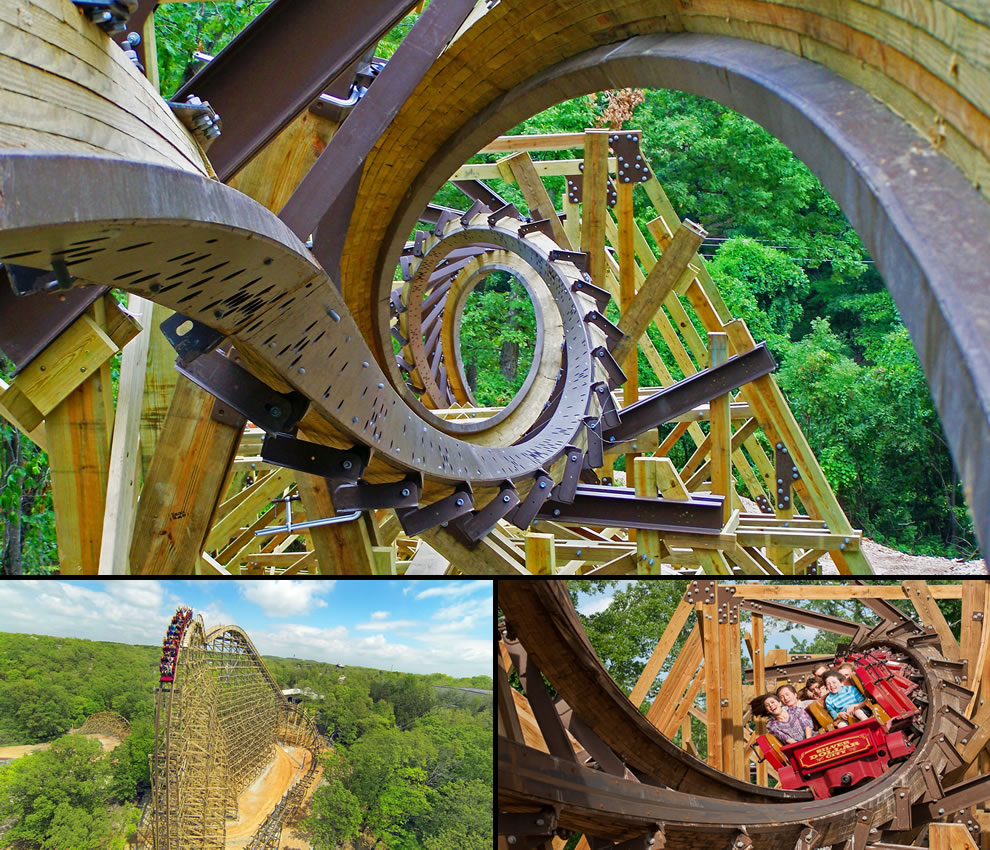 Outlaw Run has the most inversions on a wooden roller coaster
