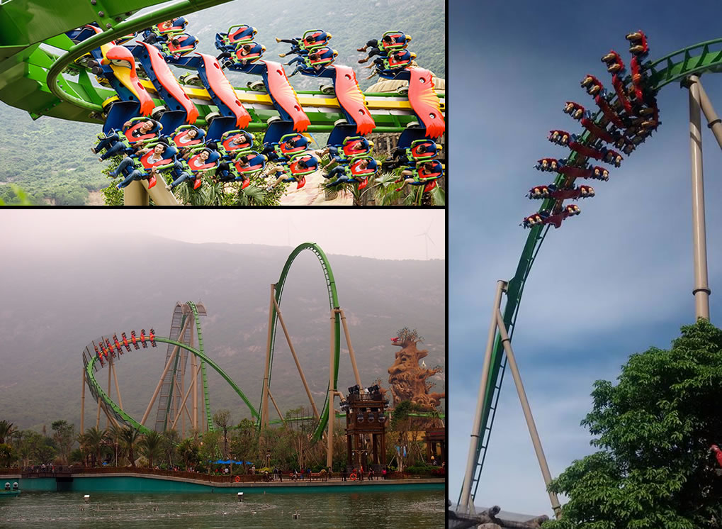 Parrot Coaster Wing Coaster ranked 1st for length