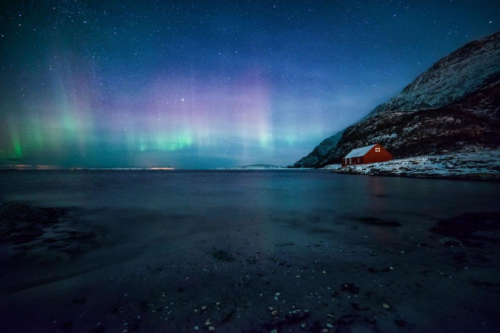 Solitude and aurora over Norway