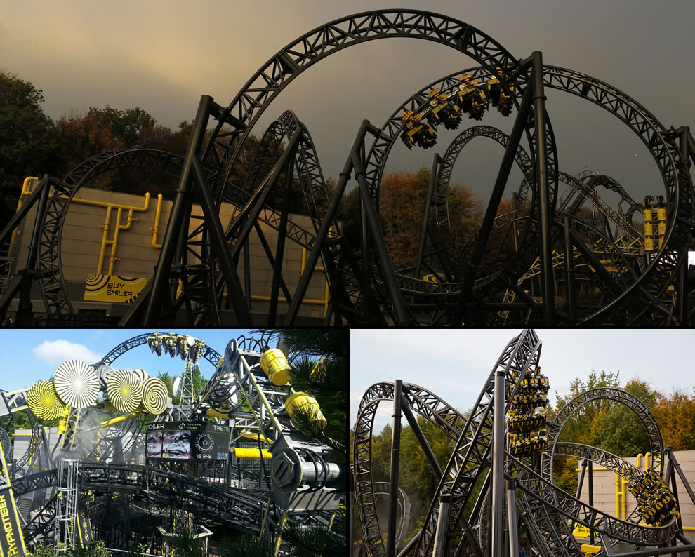 The Smiler, most inversions in the world on a steel roller coaster