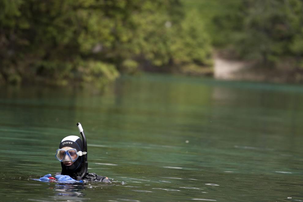 Diver at Green Lake