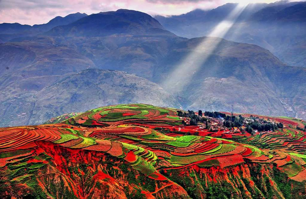 Dongchuan Red Land in Yunnan China