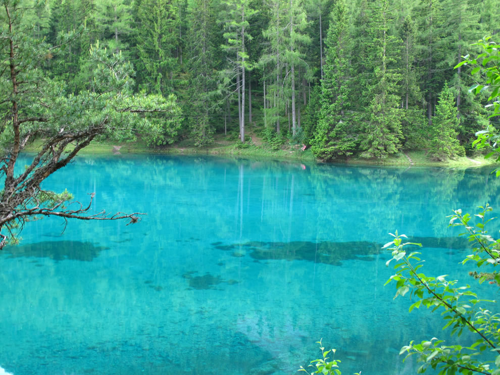 Green Lake nature reserve in Styria