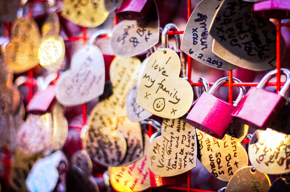 Love Locks in Covent Garden, London