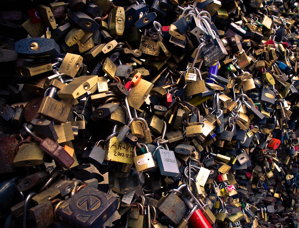 Love locks in Hungary