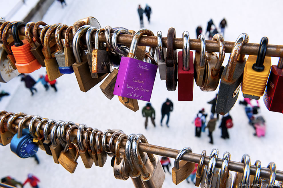 Love padlocks in Ottawa, Canada
