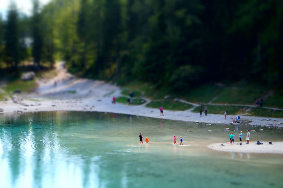 Miniaturized Green Lake