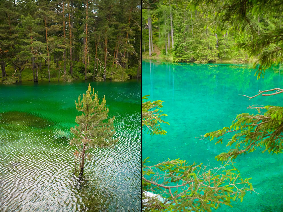 Shades of green at Green Lake in Austria
