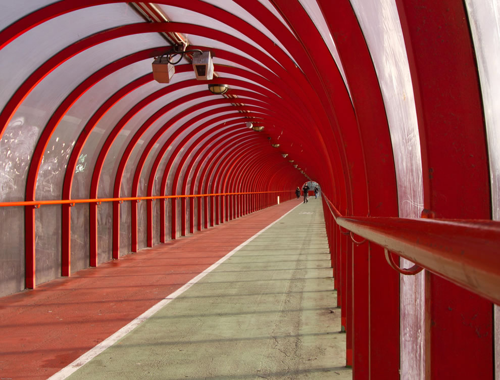 Tunnel of love aka bridge in Glasgow Scotland