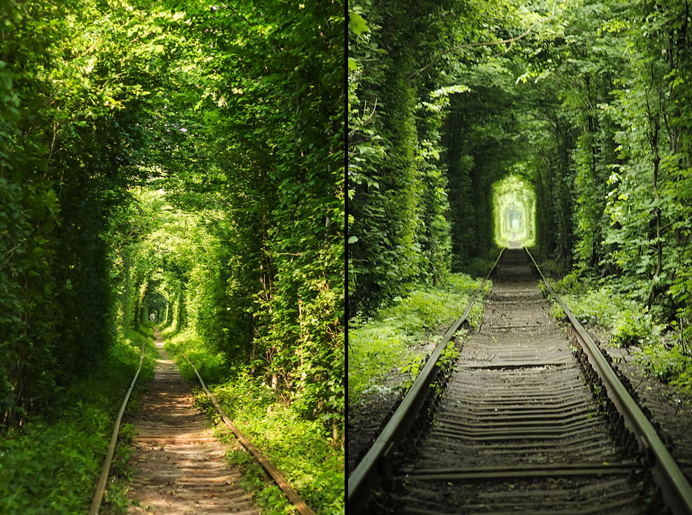 Ukraine tunnel of love natural heritage site
