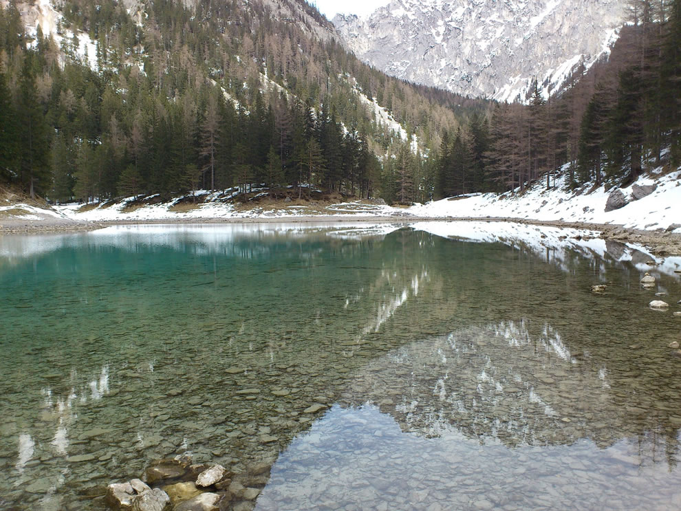 Winter reflection at Green Lake