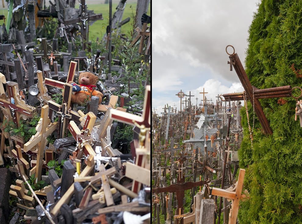 Crowded with crosses at Hill of Crosses