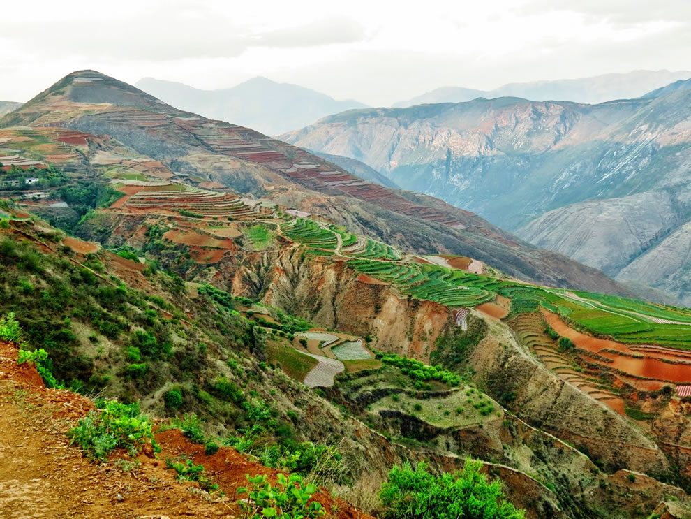 Delightful landscapes in Dongchuan