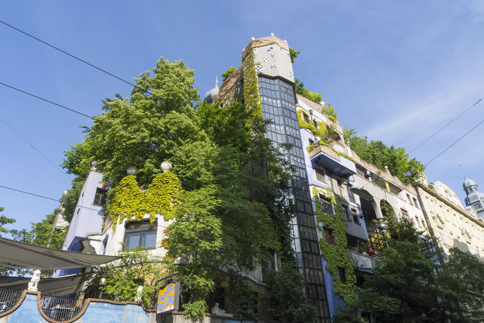 Green growth at Hundertwasserhaus House