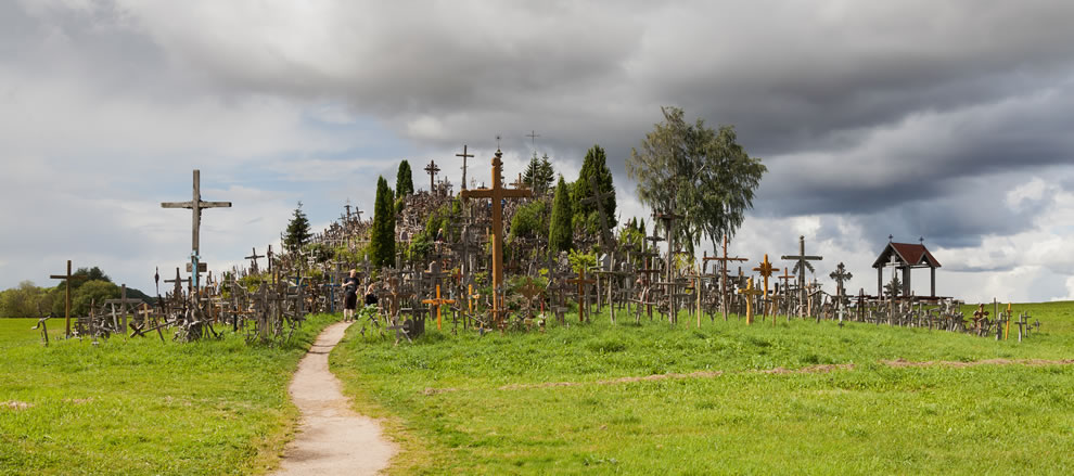Hill of Crosses pilgrimage site near siauliai, in the north of Lithuania