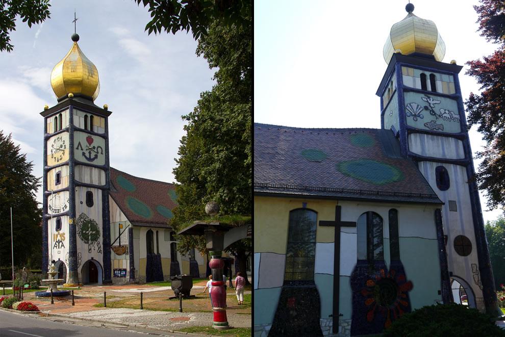 Hundertwasser Church St Barbara in Austria