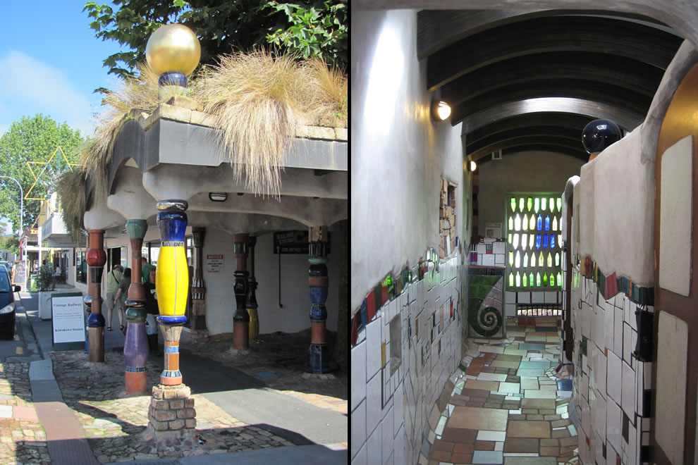 Hundertwasser Toilets, public toilets in Kawakawa on New Zealand