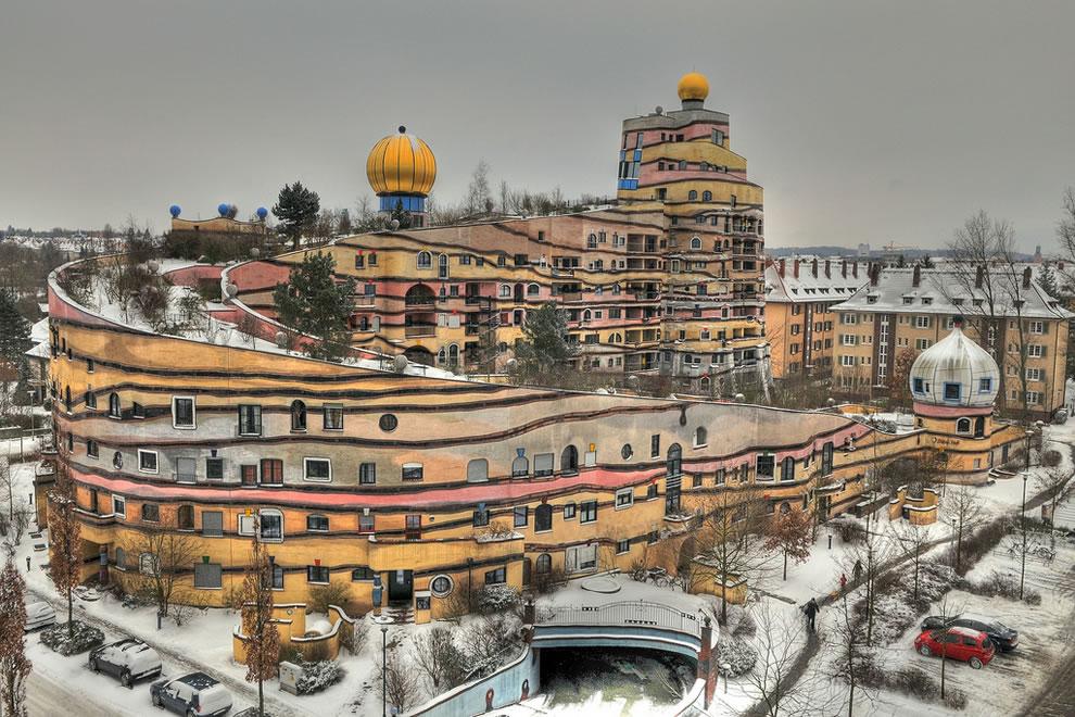 Hundertwasserhaus Waldspirale in Darmstadt