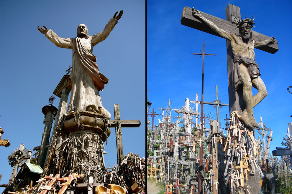 Likeness of Jesus at Hill of Crosses