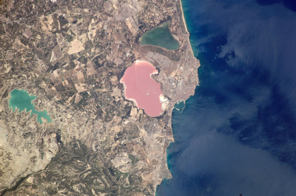 Pink Salt Lake, Torrevieja, Spain