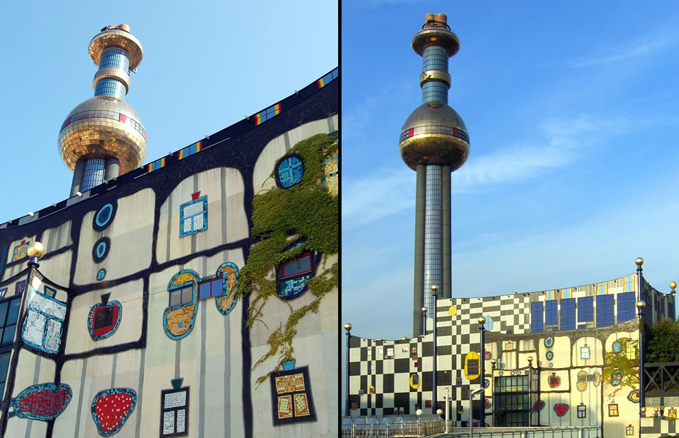 Spittelau thermal power plant by Hundertwasser in Vienna