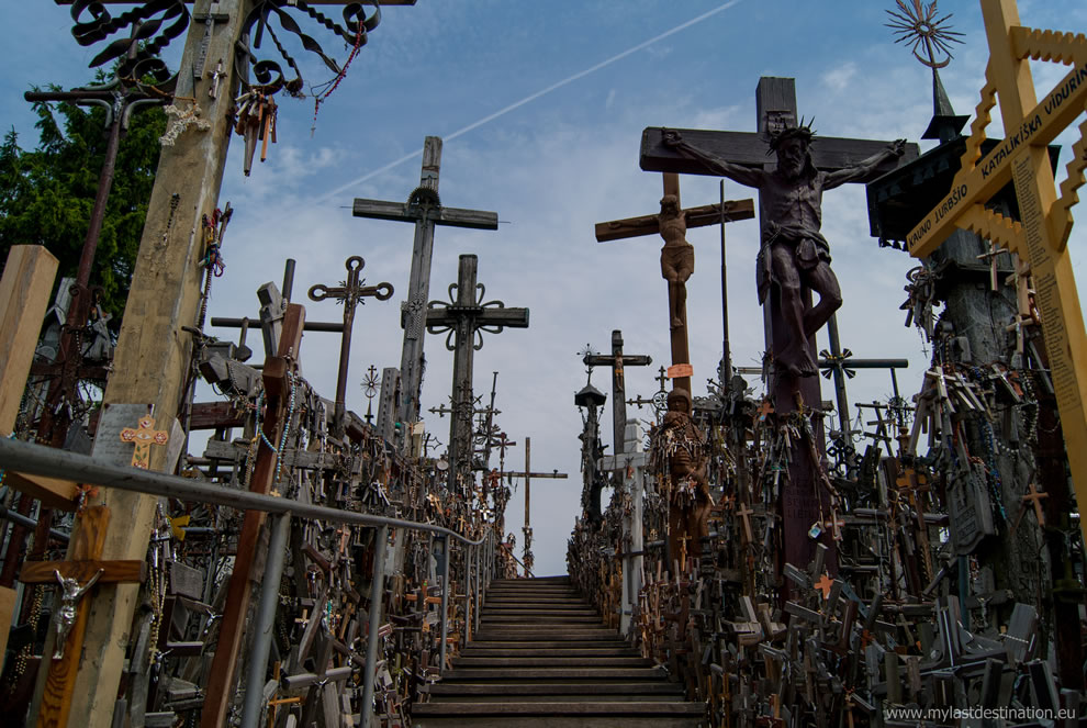 Steps up the Hill of Crosses