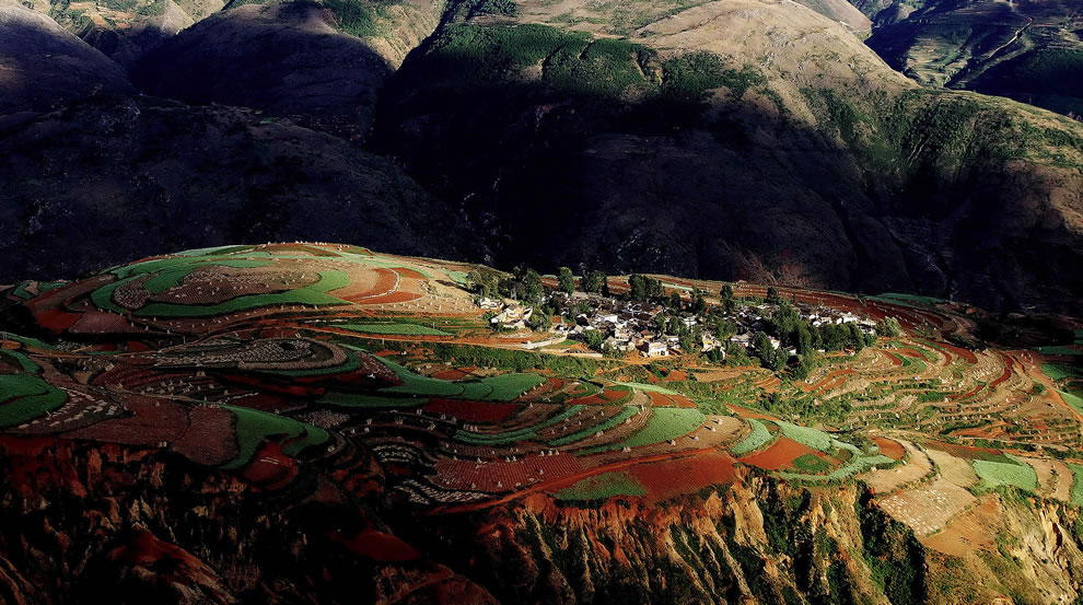 Sunset at Luo Xia Valley, Dongchuan, Yunnan