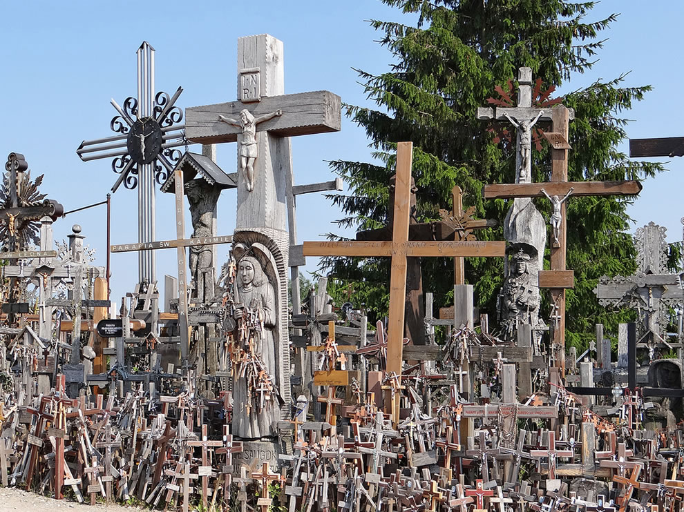 Tradition of placing crosses dates from 14th century