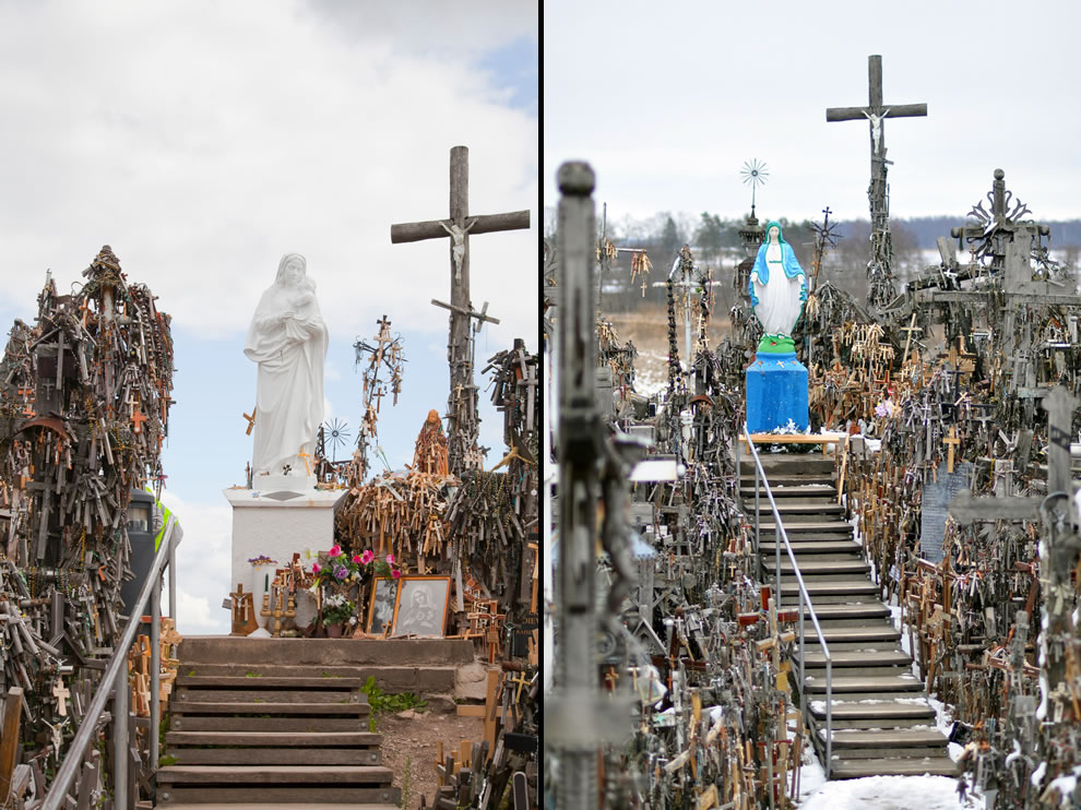 Virgin on top of the Hill of Crosses, Lithuania