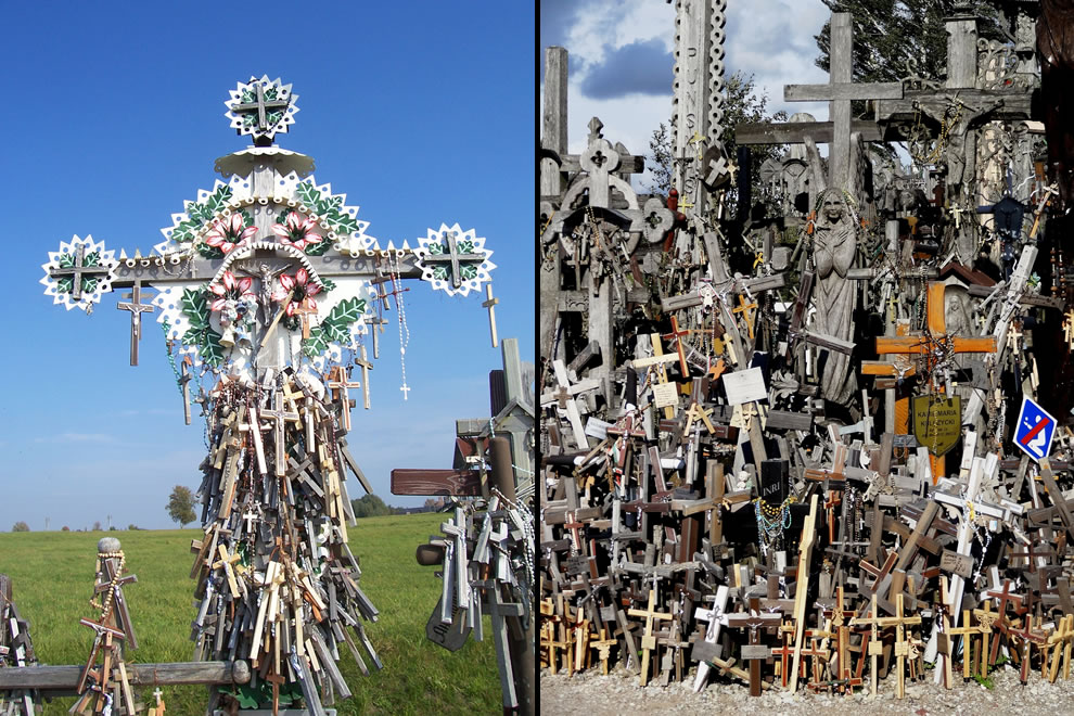 crosses appeared in memory of people taken to Siberia