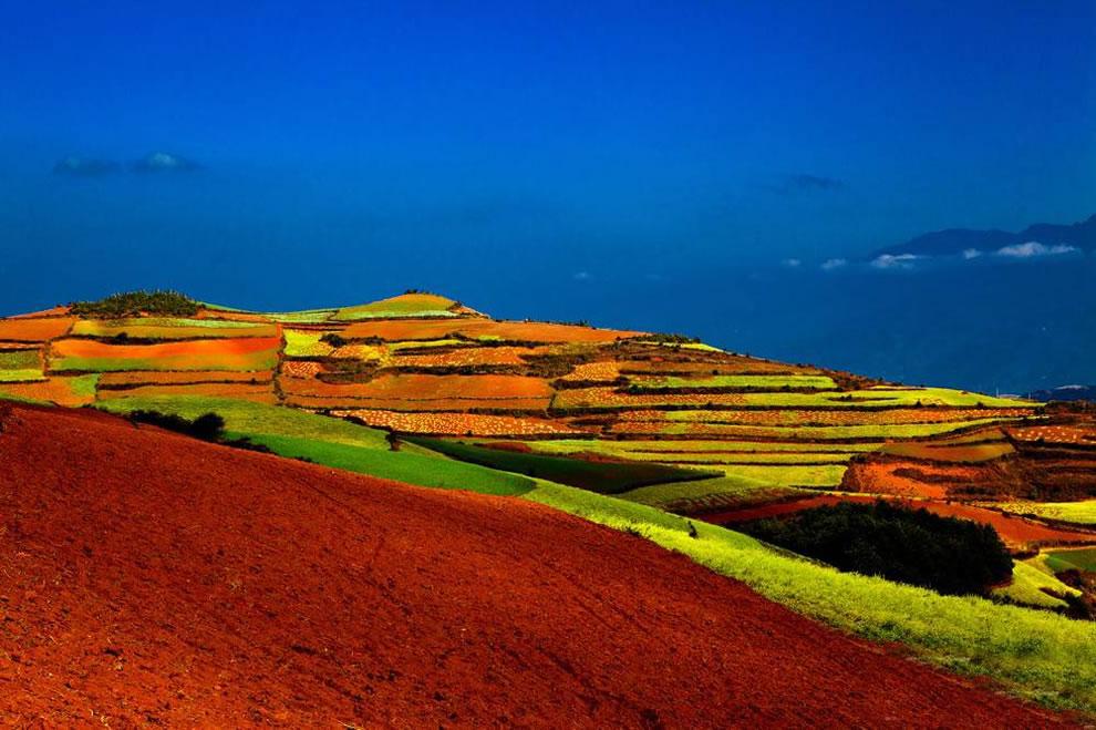 rainbow hills and fields