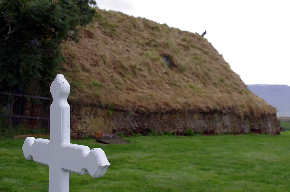 Sod roof church, Iceland