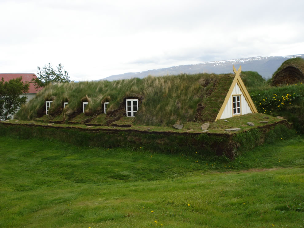Turf roof of Glaumbaer, Iceland