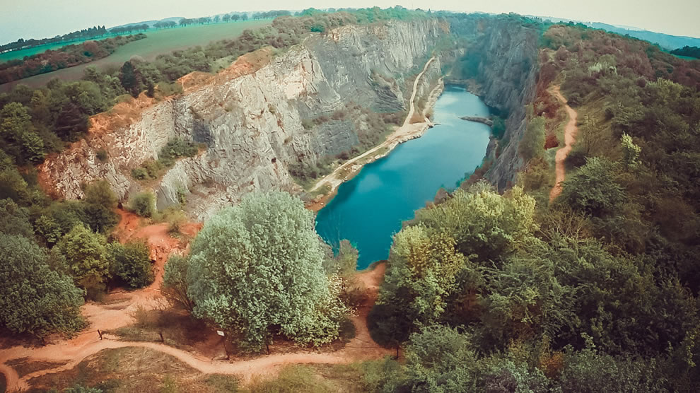 Beautiful quarry located near Prague in the Czech Republic