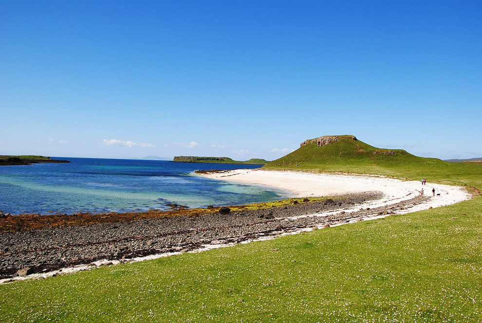 Claigan coral beach at Isle of Skye, Scotland