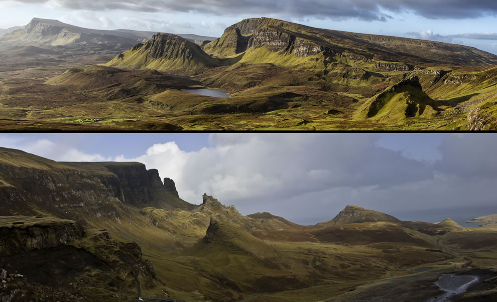 Panoramas of The Quiraing in Scotland's Isle of Skye