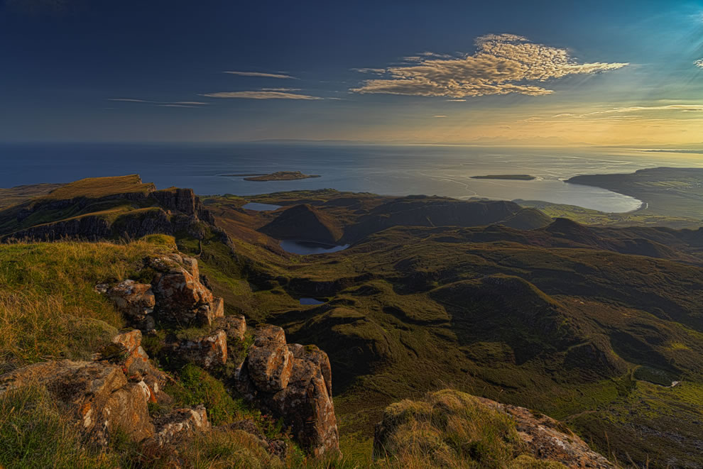 Quiraing and sunshine