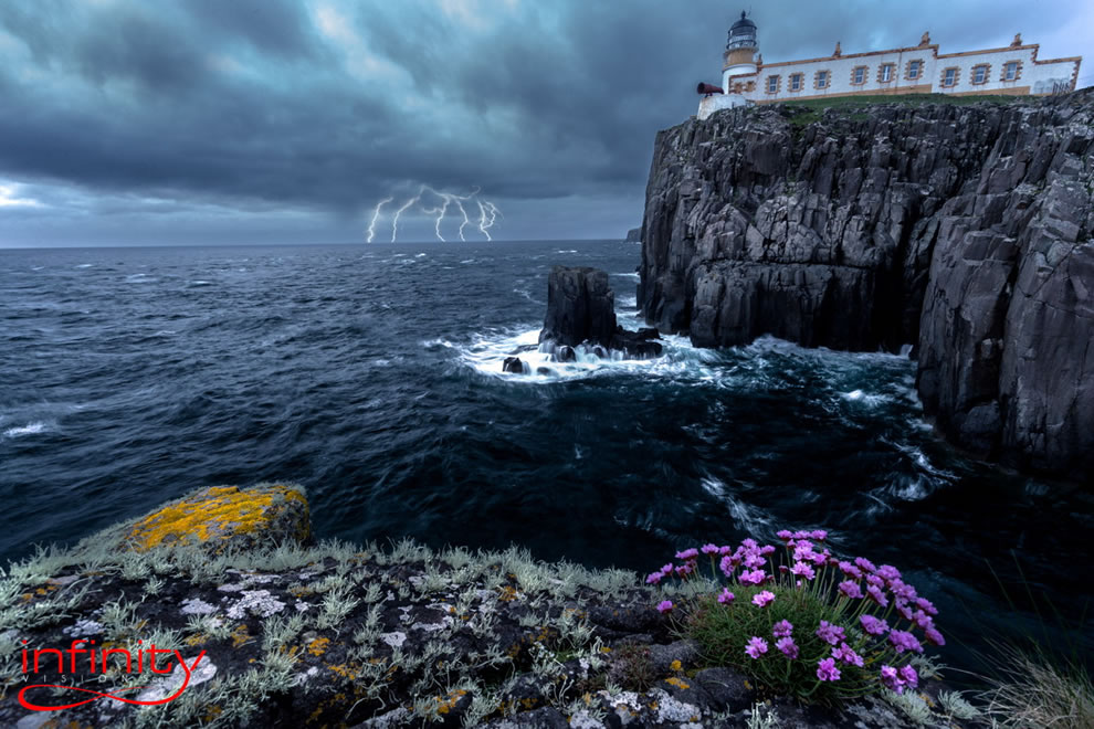 Storm at Neist Point