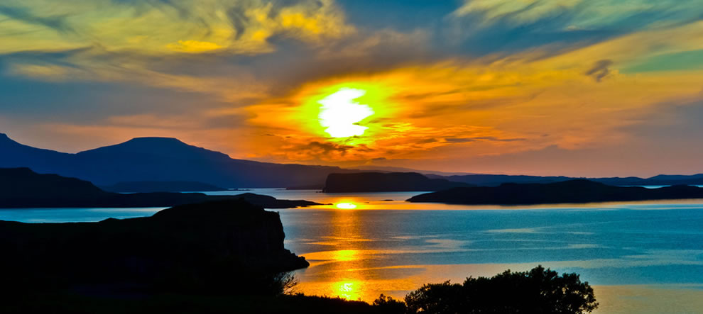 Sunset over Fiskavaig Bay, Isle of Skye