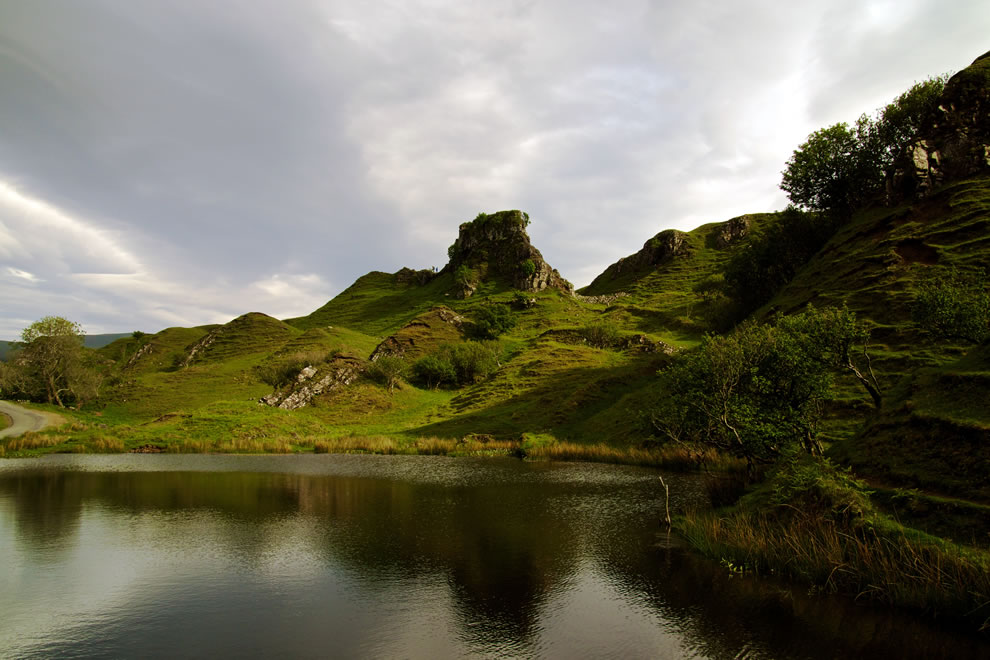 The Fairy Glen on Skye Island Scotland
