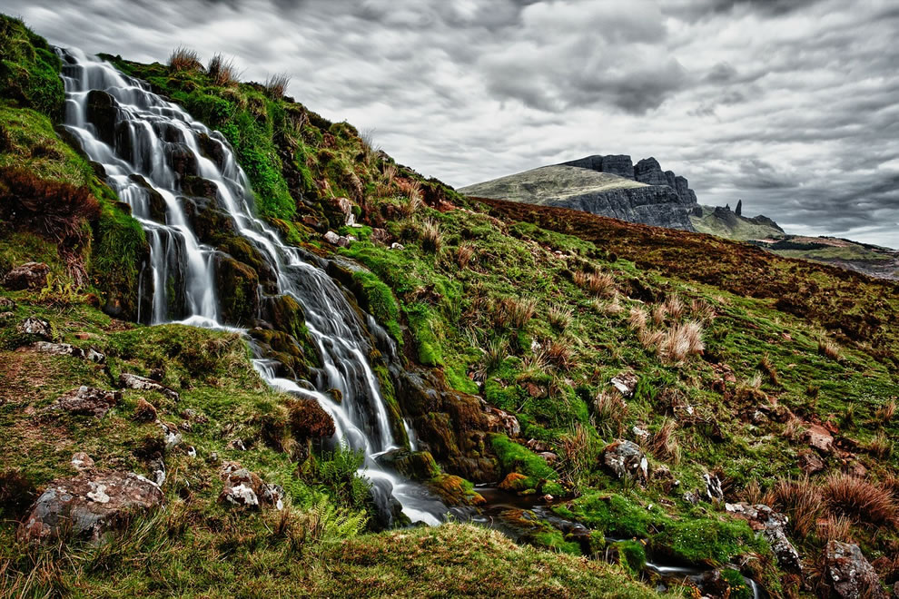 Trickling waterfall on Skye