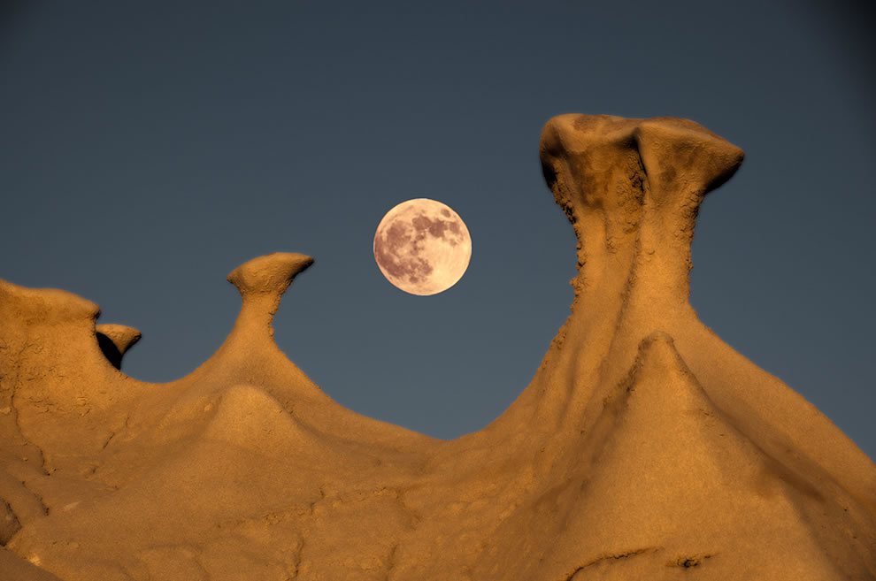 Bisti and the moon