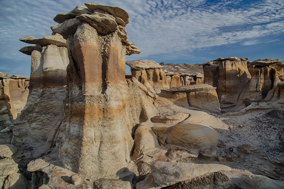 Hoodoos at Bisti-De-Na-Zin Wilderness