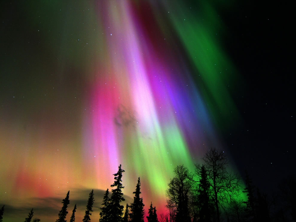 Colorful Aurora Borealis in Finland