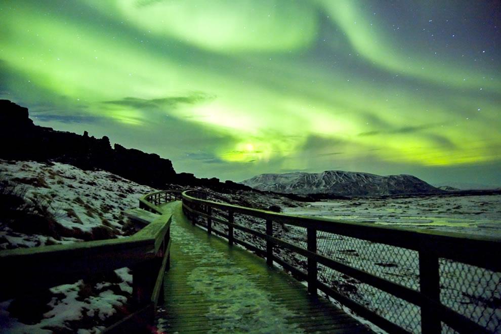 Green Moonlight - Aurora Borealis