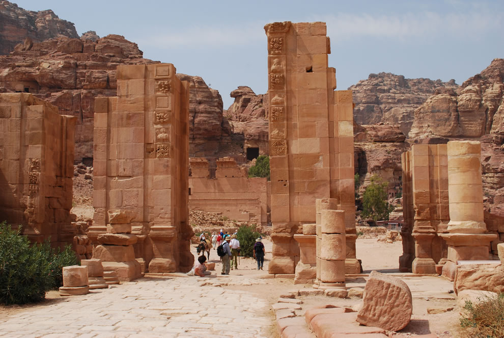 Hadrians Gate on the cardo maximus in Petra