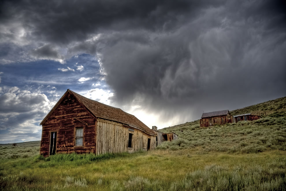 stormy day at the Bodie Historic State Park