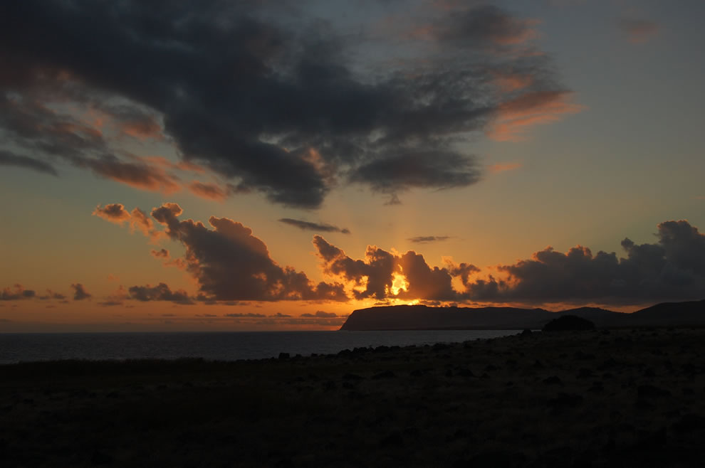 An Easter Island sunset